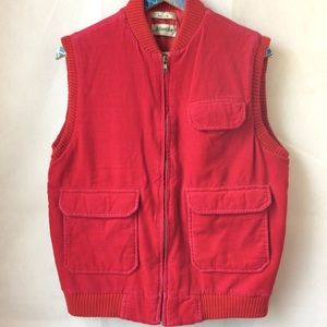 Vintage St Johns. Bay Red Corduroy Puffy Vest sz M